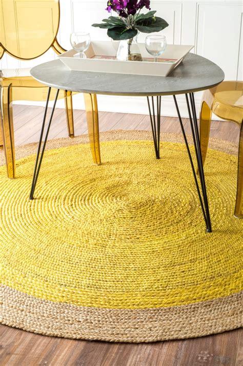 runder teppich gelber teppich f 252 r eine frische und strahlende