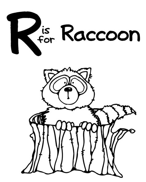 raccoon coloring pages kindergarten we love being moms a z zoo animal coloring pages