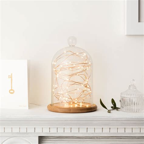 Glass Bell Jar With Copper Micro Fairy Lights By Lights Where To Buy