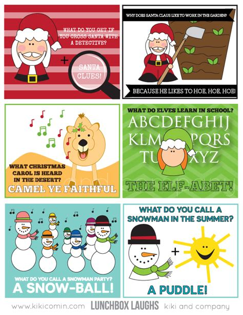 free printable lunchbox jokes christmas christmas wonderful christmas lunch notes design dazzle