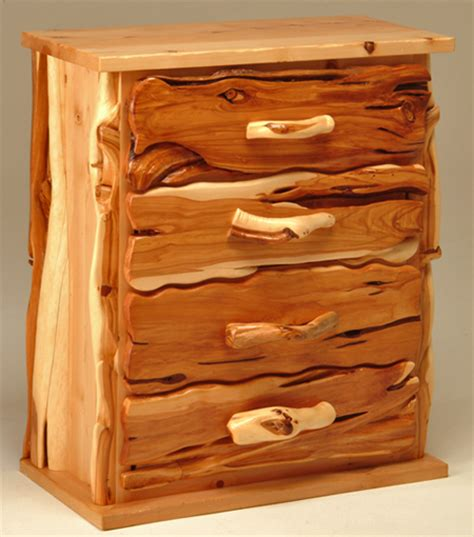 Juniper Furniture by Chest Of Drawers Wood Chest Log Cabin Furniture