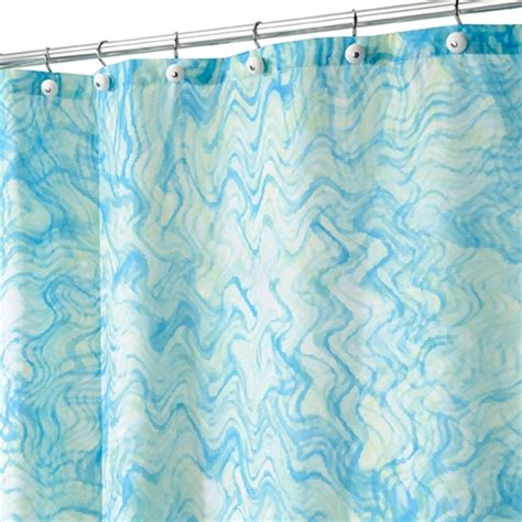 blue green drapes watercolor shower curtain blue and green college