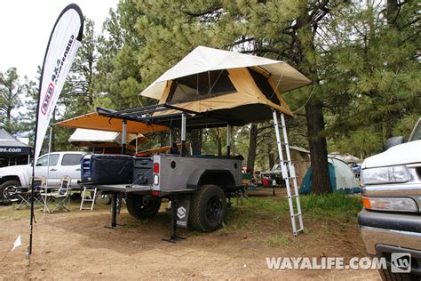 jeep cing trailer roof top tent trailer build house roof