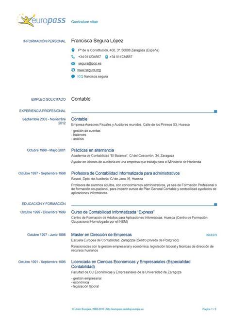 Plantilla De Curriculum Vitae Europeo Descargar plantilla de curriculum vitae europeo para word europass cv