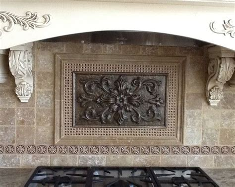 kitchen backsplash metal medallions the world s catalog of ideas