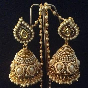 Ethnic Home Decor Online Shopping India by Buy Bridal Heavy Ethnic Big Pearl Kundan Jhumka India