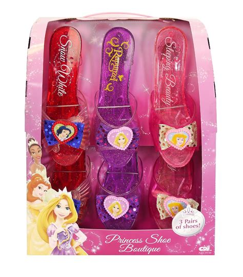 play dress up shoes disney princess 3 pack shoes toys pretend play