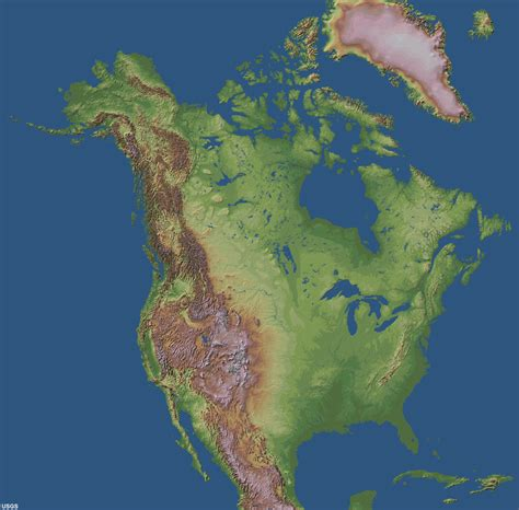 america topographic map us map showing states and capitals maps of usa