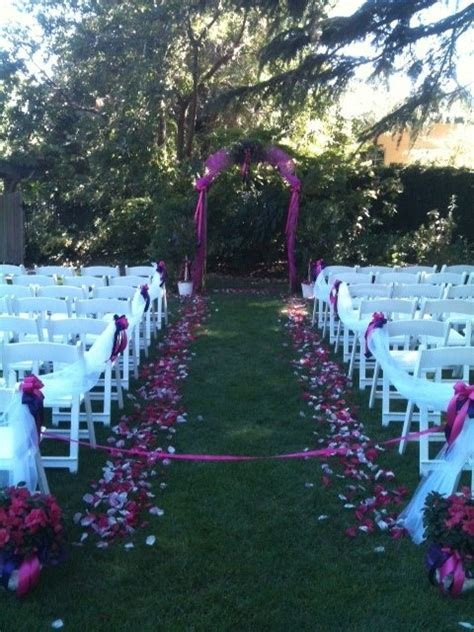 Wedding Arch Bows by Lodi Wedding Arch And Isle Pinks And Purples Tulle