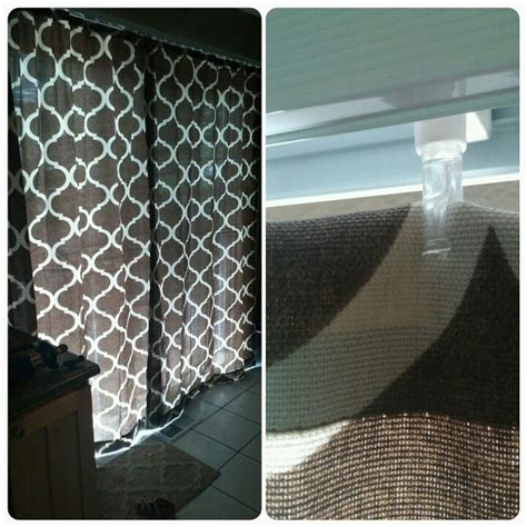 Curtains For Vertical Blind Track Easy Curtain Renter Hack For Replacing Vertical Blinds With A Pretty Curtain Sheer Curtains
