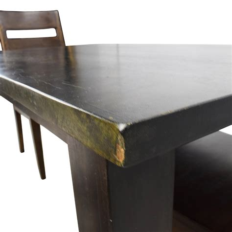 crate and barrell bench java dining table choice image dining table ideas