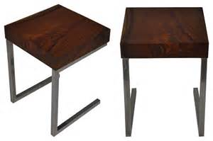 Reclaimed Wood Round Table Salvaged Wood Side Table Modern Side Tables And End