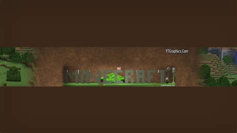 youtube channel art banner minecraft youtube banner best business template