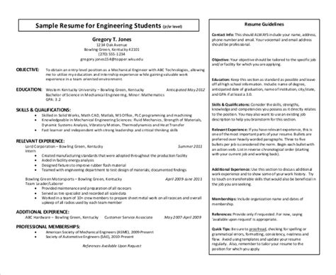 Resume Format For Engineering Students In Pdf 23 automobile resume templates free word pdf formats