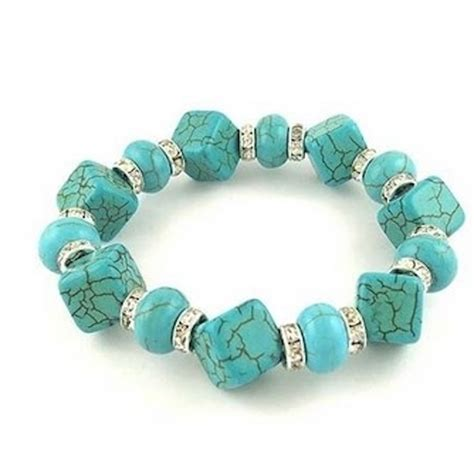 Turquoise Bracelet with Australian Crystals