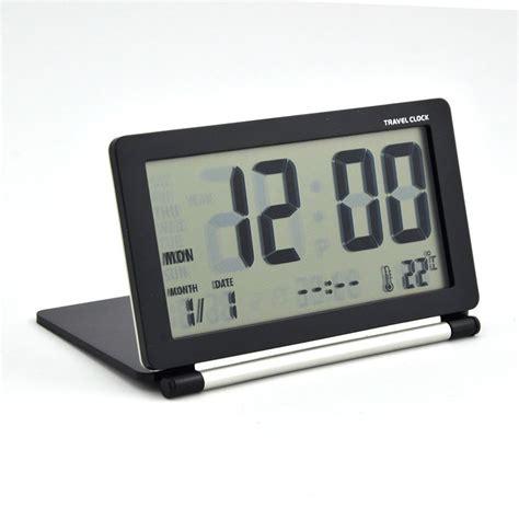 lcd digital alarm clock silent large screen thermometer travel timer calendar 629771200299 ebay