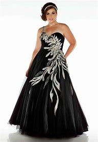 Image result for plus size prom dresses