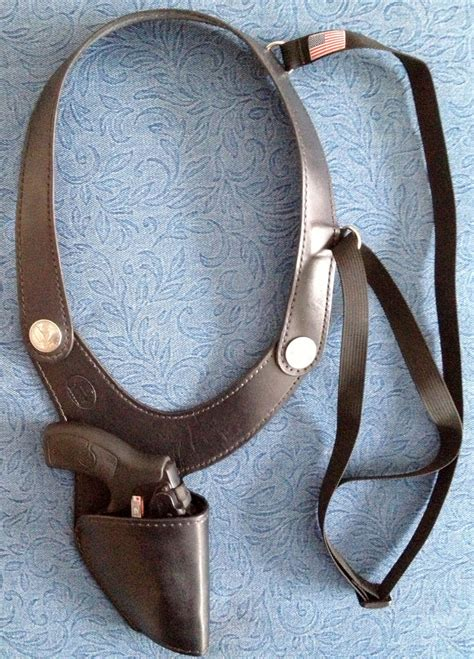 Handmade Leather Shoulder Holster - j r roscoe handmade leather shoulder holsters