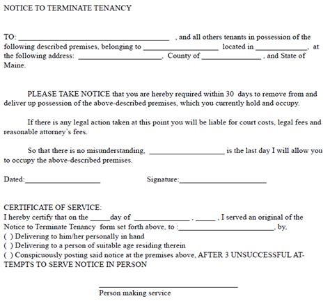 30 day rental notice template 30 day notice to landlord real estate forms