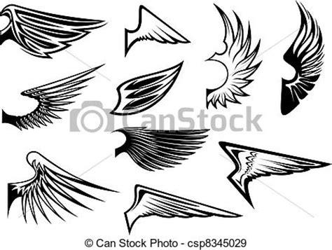 imagenes vectoriales alas eps vectores de her 225 ldico conjunto alas conjunto de