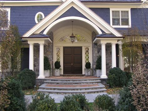 exterior arch portico front entry traditional entry philadelphia by cushing custom homes villanova heights riverdale bronx ny victorian