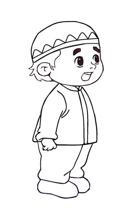 gambar kartun anak muslim hitam putih terbaru galeri kartun