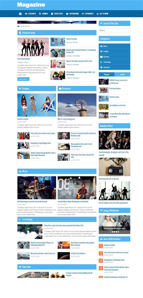 html magazine themes download free joomla magazine theme 2015 free wordpress