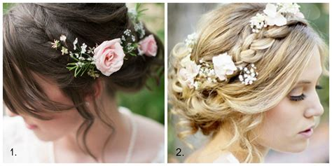 wedding hair with flowers wedding hair adding flowers edmonton wedding