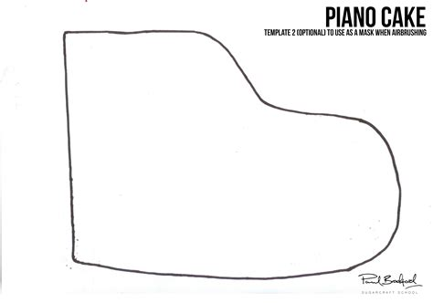 piano template piano cake template images