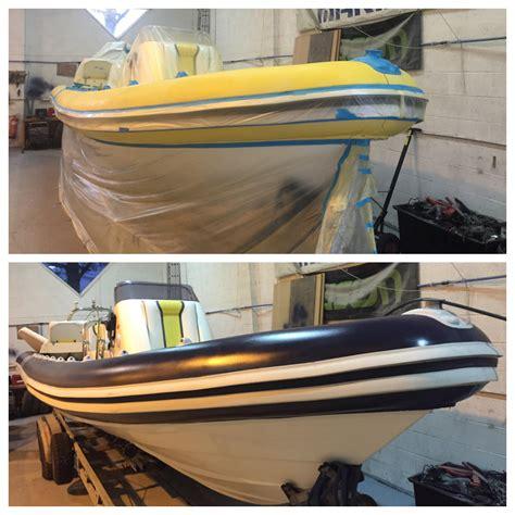 zodiac boat restoration rib tube painting