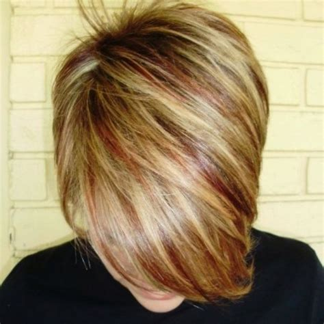 lowlights for blondes red blonde hair with red lowlights hair makeup pinterest