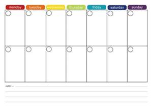 Two Week Calendar Template Excel by More Free Printable Menu Plans Weekly Meals Monthly