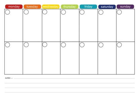 two week calendar template excel more free printable menu plans weekly meals monthly