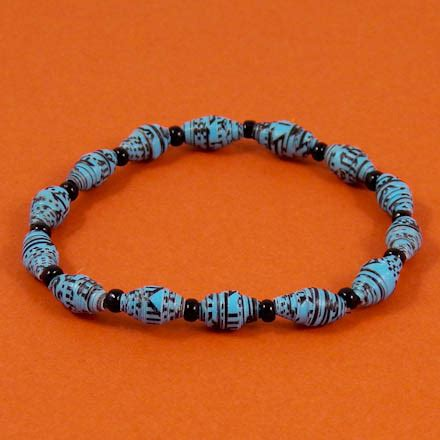 How To Make Paper Bead Bracelets - make shiny recycled paper friday craft