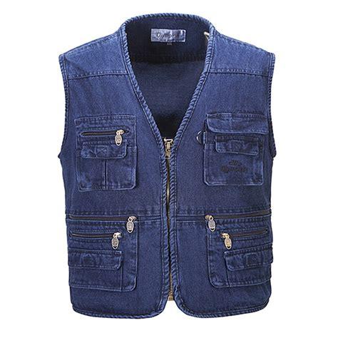 Vest Casual new autumn s jean vest sleeveless denim jacket vest casual multi pockets waistcoat