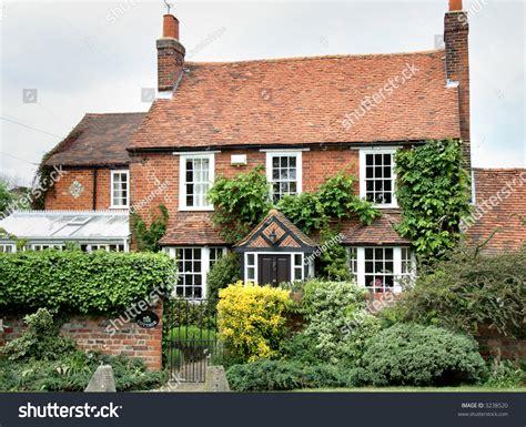 house garden england edition brick house rural stock photo 3238520
