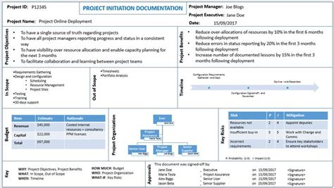 Project Initiation Document Exle Ppt 11 best project tracking templates images on