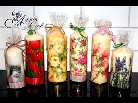 candele decoupage decoupage tutorial decorating candles with napkins