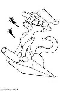 gato halloween colouring pages