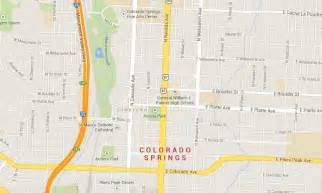 map of colorado springs downtown center world easy guides