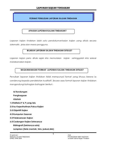 format penulisan abstrak kajian contoh laporan kajian tindakan 1