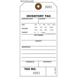 Inventory Tag Template by Custom Inventory Hang Tags Numbered Part Asset St