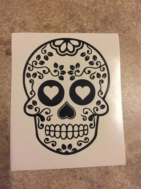Family Wall Sticker floral sugar skull decal tervis yeti rtic cup decal laptop