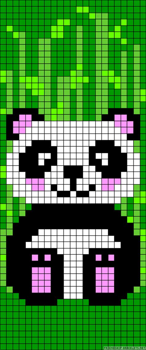 panda bear perler bead pattern embroidery beads pinterest