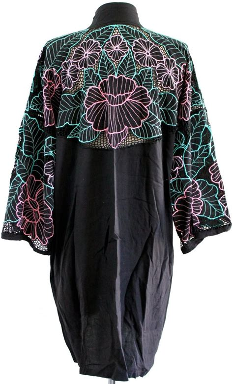 Black Yellow Flower Shirt Size Sml 17 best images about bali cutwork on teal