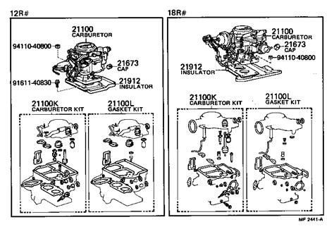 ajuste de motor despiece carburador toyota hilux ajuste de motor despiece carburador toyota hilux