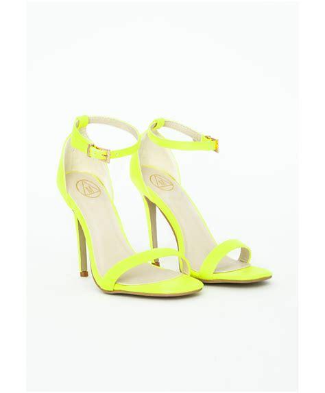 yellow high heel sandals neon yellow high heel sandals is heel