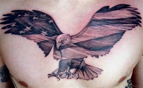 eagle with american flag tattoo designs 57 classic flag tattoos on chest