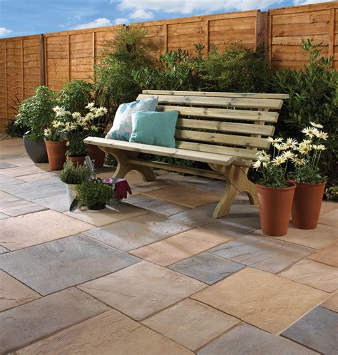 Patio Pack by Bradstone Riven Autumn Bronze Patio Pack