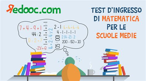 test ingresso matematica terza media matematica per i ragazzi della scuola media redooc